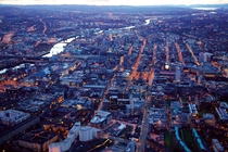 Aerial View of Glasgow at Dusk