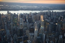 Aerial view of Midtown East Manhattan NYC