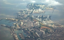 Aerial view of Mumbai India -