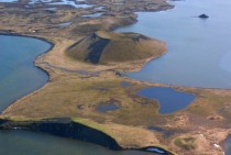 Aerial view of Myvatn Iceland