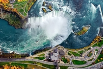 Aerial view of Niagara Falls by Ron Snyder