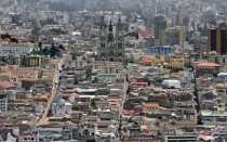 Aerial view of Quito Ecuador