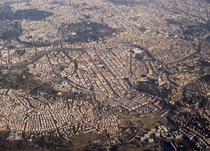 Aerial view of Rome Italy Founded in  BC