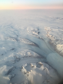 Aerial view of southern Greenland from Icelandic flight  x