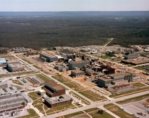 Aerial view of the Aero-propulsion System Test Facility at the Arnold Engineering and Development Center to test jet engines
