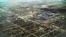Aerial view of the Goodyear Tire plant in New Toronto   taken by RCAF
