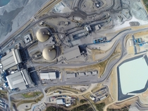 Aerial view of the MATSA mine owned by JV partners Mubadala and Trafigura - Andalucia Spain