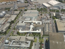 Aerial view of the Unitary Wind Tunnel Plan at NASA Ames