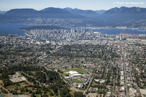 Aerial View of Vancouver British Columbia