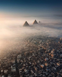 Aerial view over Cairo