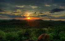 African Sunset Save Valley Conservancy Zimbabwe