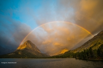 After a brutal night of storms sunrise brought a welcome surprise Glacier National Park Montana