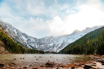 After a little more than  miles of hiking and around ft of elevation gain youre greeted by Avalanche Lake in Glacier National Park Montana