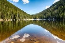 After a semi-treacherous  mile hike uphill I reached Beaver Lake - Beaver Creek CO - elevation k ft