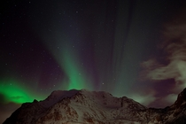 After chasing them for years I finally saw the Northern Lights last night Lofoten Norway