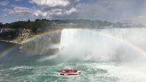 After  hours of sitting in the sun I was finally able to capture this pic Niagara Falls Canada