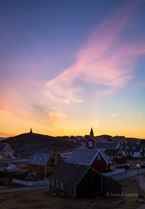 After midnight Nuuk West Greenland