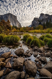 After two weeks of blue skies finally got some clouds in Yosemite Valley