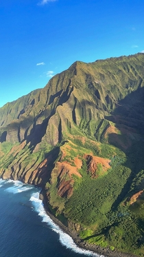After years of having the NaPali Coast as my MacBook background for the first time yesterday I saw it in person during my helicopter tour and took my own beautiful pictures to cherish Kauai HI