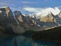 Afternoon in the Valley of the Ten Peaks and Moraine Lake in Banff Canada