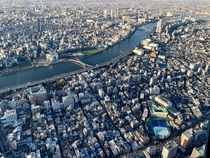 Afternoon in Tokyo as seen from Skytree
