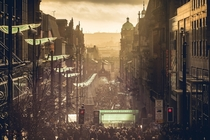 Afternoon on Buchanan Street in Glasgow Scotland  By Neil Hamilton