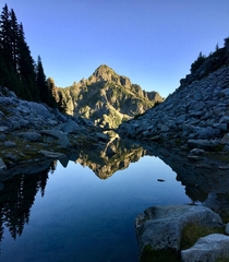 Afternoon reflection near Vesper Peak WA OC x