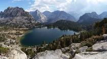 Afternoon storm rolling in over Bullfrog Lake in the Sierra Nevada - Kings Canyon National Park California