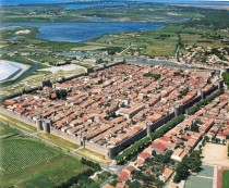 Aigues-Mortes a fortified town in Southern France