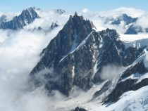 Aiguille du Midi in summer France