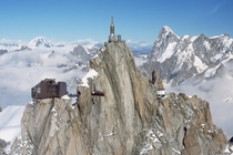 Aiguille du Midi Mont Blanc massif the French Alps