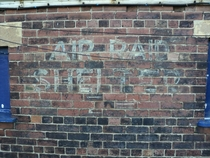 Air Raid Shelter sign Wakefield UK