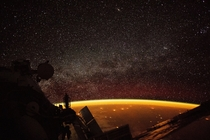 Airglow captured from ISS  October
