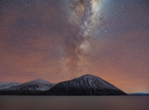 Airglow over Lake Ohau New Zealand