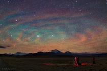 Airglow ripples over Tibet photographed after a thunderstorm by Jeff Dai