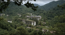Akarmara an abandoned town in the Abkhazian mountains following the collapse of the Soviet Union