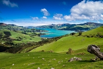 Akaroa Harbour Banks Peninsula New Zealand