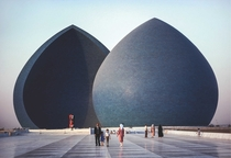 al-Shaheed Monument or Martyrs Memorial Baghdad Iraq  photo by Steve McCurry