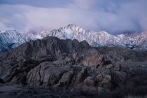 Alabama Hills in the moonlight California