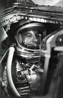 Alan Shepard waits to become the first American in space Cape Canaveral  photograph by NASA