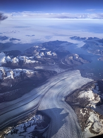 Alaskan glaciers from the sky