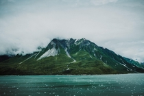 Alaskan peaks - taken from the bay near Hubbard Glacier