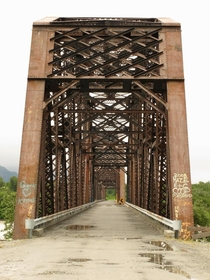 Alaskas Million Dollar Bridge over the Copper River between  and  to haul copper ore by train and later converted for automobile use until the road became a dead end It is no longer accessible by road from either direction