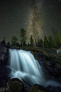 Alberta Falls in RMNP CO last night