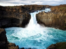 Aldeyjarfoss waterfall in Iceland