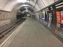 Aldwych tube station - closed in  Photo taken April