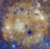 All about that Basin - mosaic of the Caloris Basin on Mercury taken by the MESSENGER spacecraft  NASA