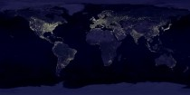 All of Earths cities as viewed from space at night