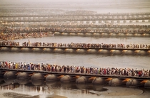 Allahabad India - a city of  million people - during Kumbh Mela the worlds largest religious gathering drawing  million attendees