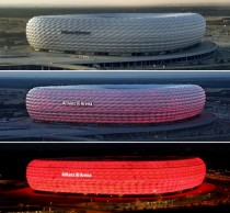 Allianz Arena in MnchenMunich Germany at different times of the day